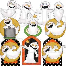 Just Goofy Ghosts Clip Art