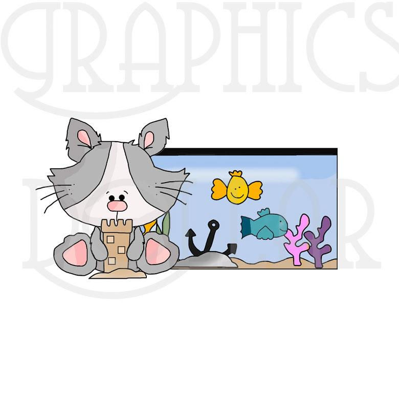 Kitty Caught a Fishy Clip Art