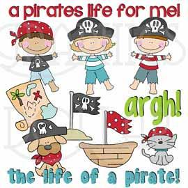 Life of a Pirate Clip Art