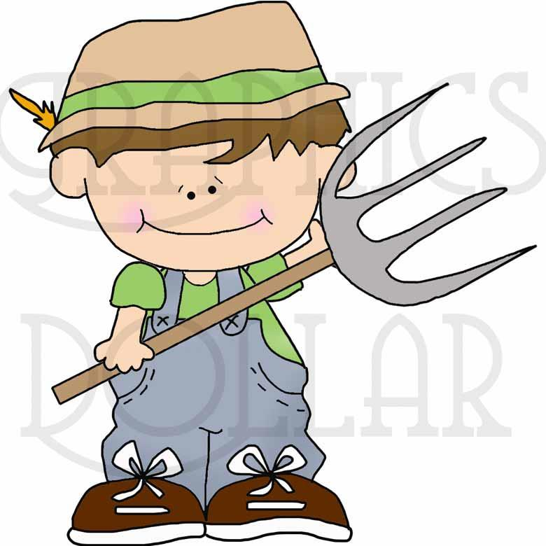L'il Kids on the Farm Clip Art