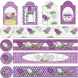 Lilac Love Mason Jar Set