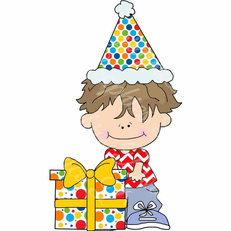 Little Birthday Boys Clip Art