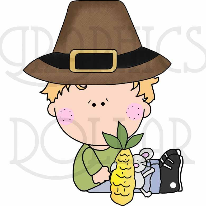 Little Kids Thanksgiving Clip Art