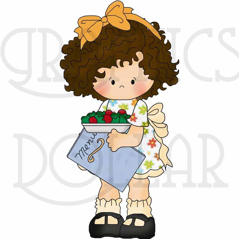 Little Waitress Exclusive Clip Art