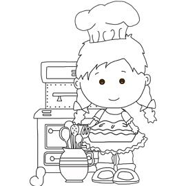 Free Digital Stamp - Lou Lou Loves to Bake