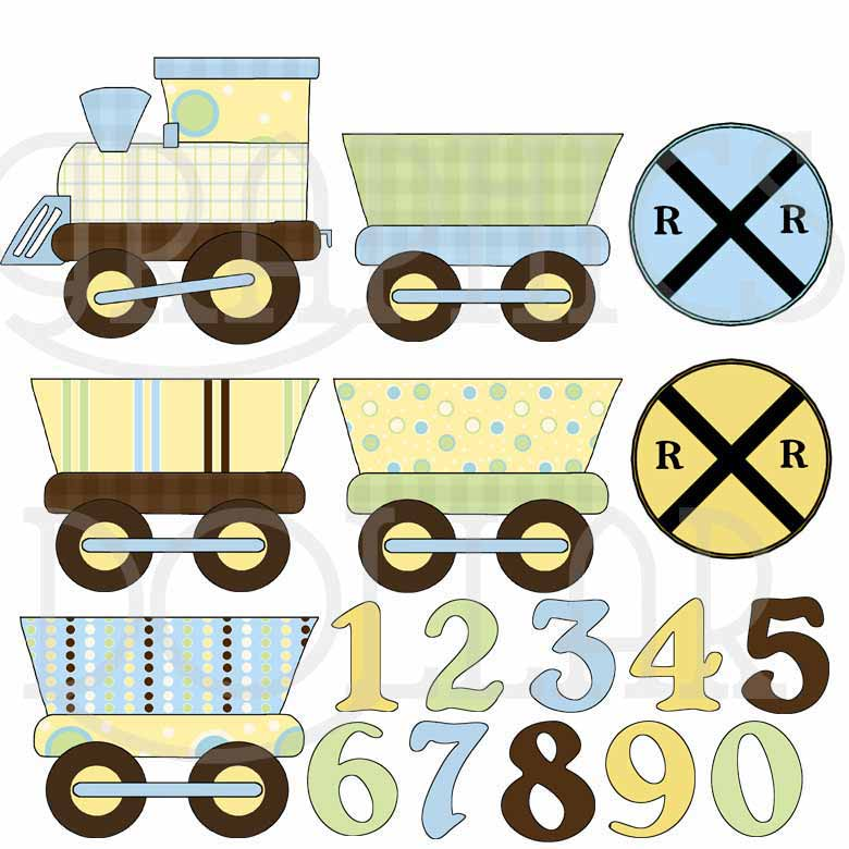 Baby Train Clip Art
