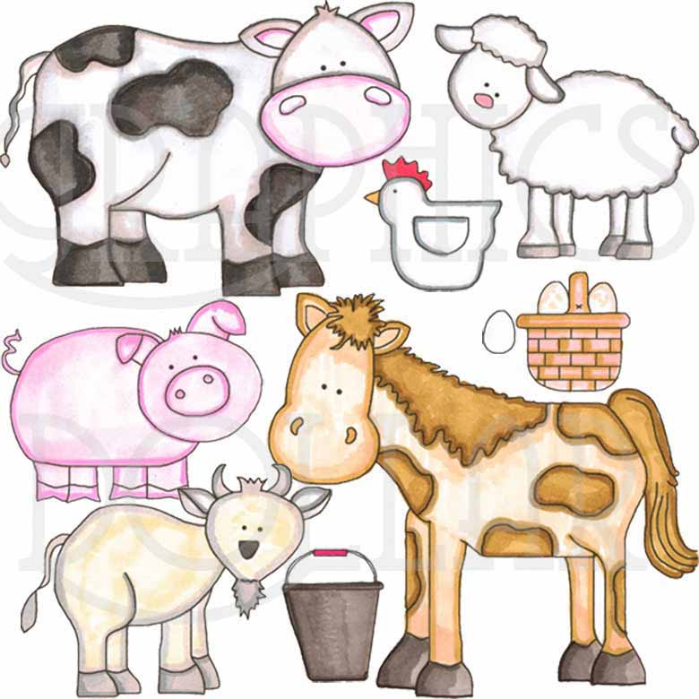 Barnyard Animals Clip Art