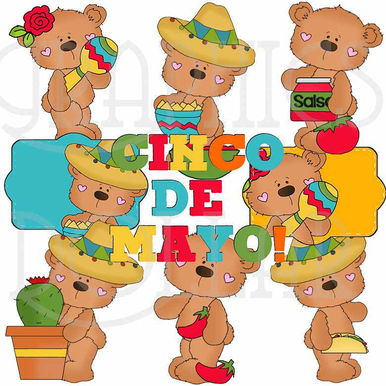 Bobo Bear Cinco de Mayo Exclusive Clip Art