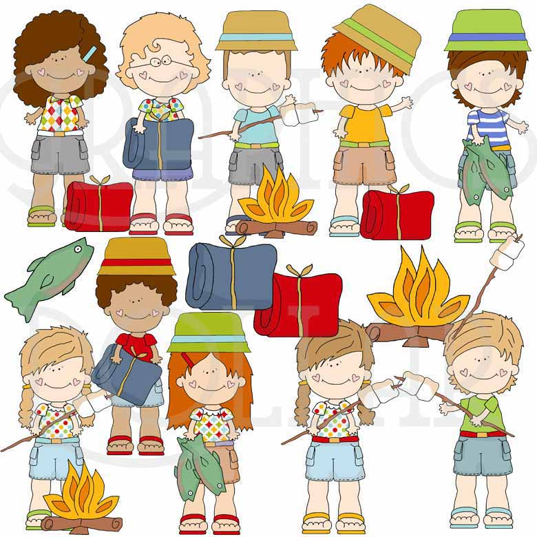 Camp Kiddos Clip Art