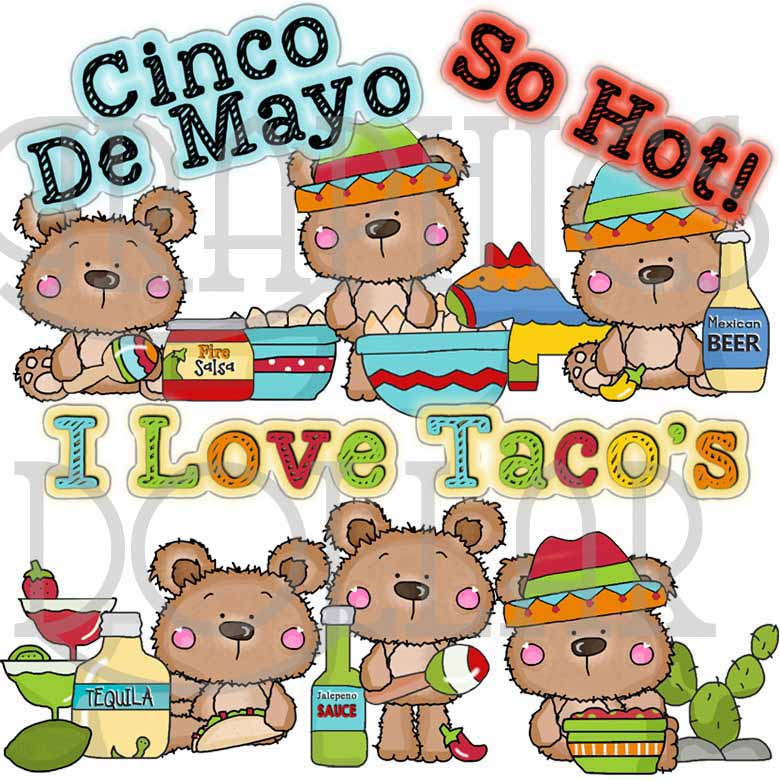 Cinco de Mayo Bears Clip Art