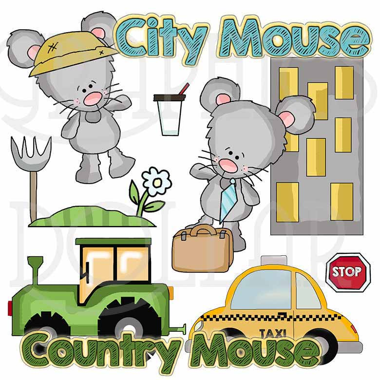 Country Mouse City Mouse Clip Art - Graphics Dollar