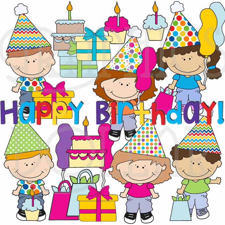 Cute Birthday Friends Clip Art
