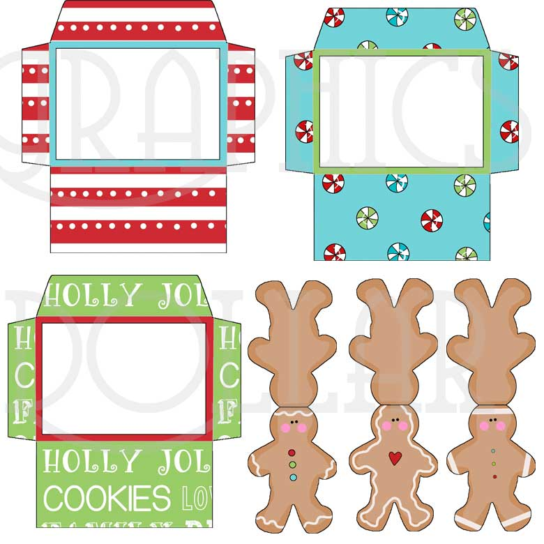 Cute Gingerbread Card with Envelopes