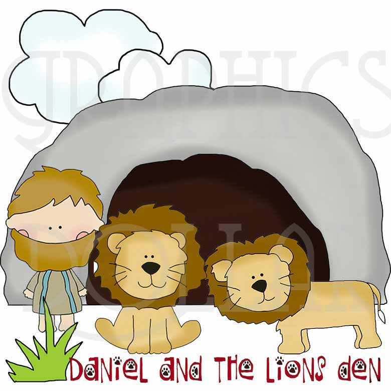 Daniel in the Lion's Den Clip Art