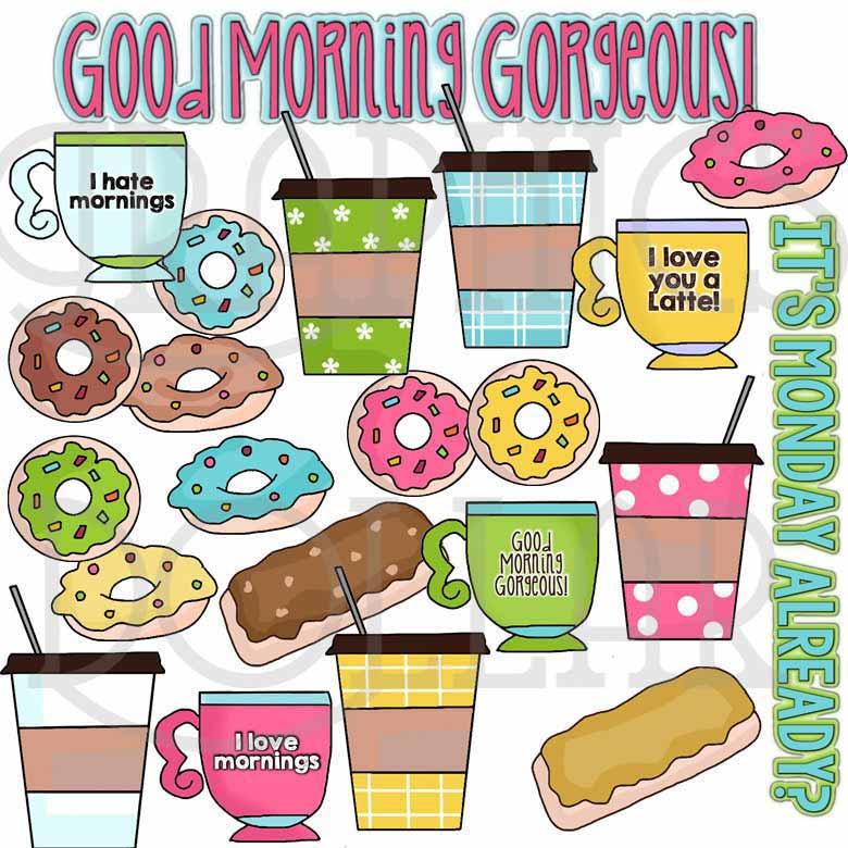 Donuts and Coffee Clip Art