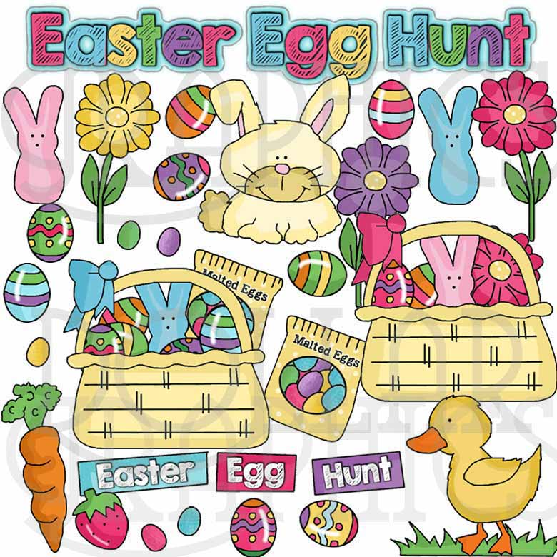 Easter Egg Hunt Clip Art