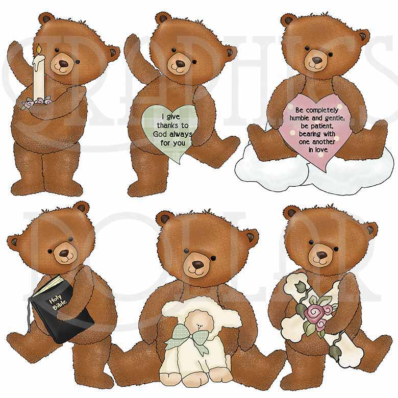 Faith Bears Clip Art