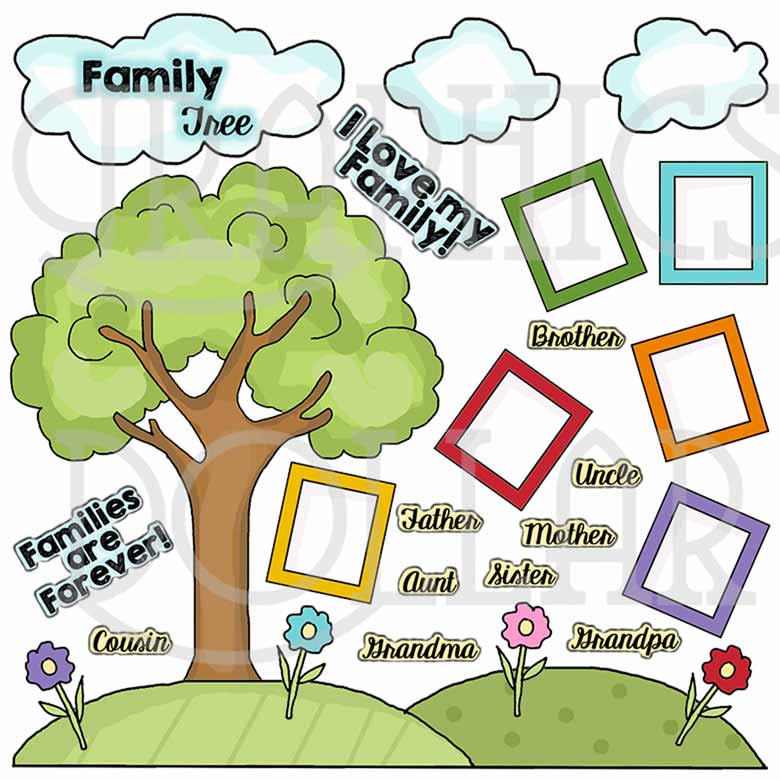 Family Tree Clip Art - Graphics Dollar