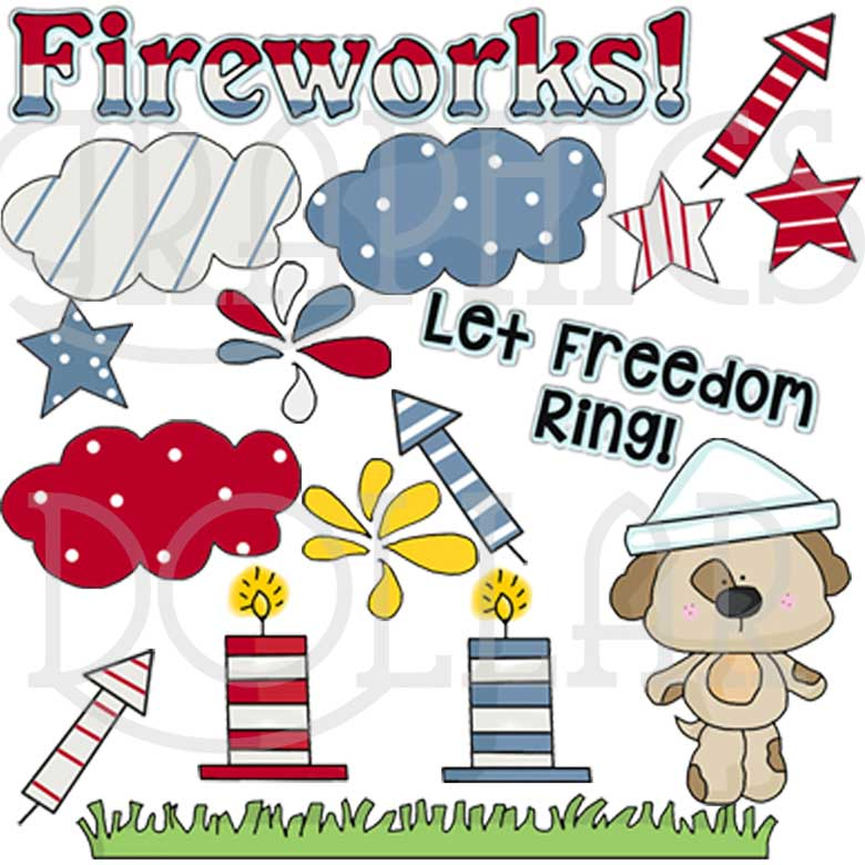 Fourth of July Pup Clip Art