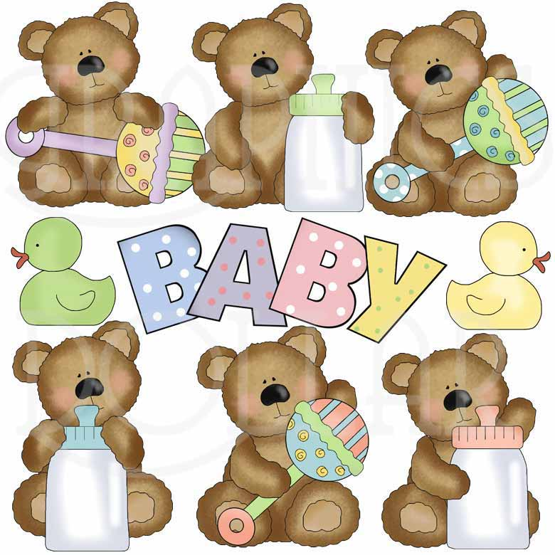 Furry Baby Bears Clip Art