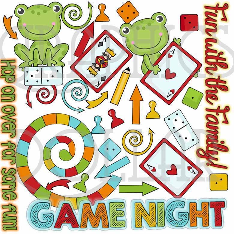 Game Night Fun Clip Art