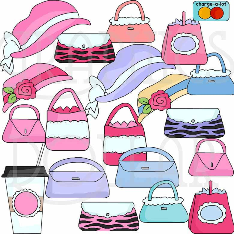Girly Girl Elements Clip Art