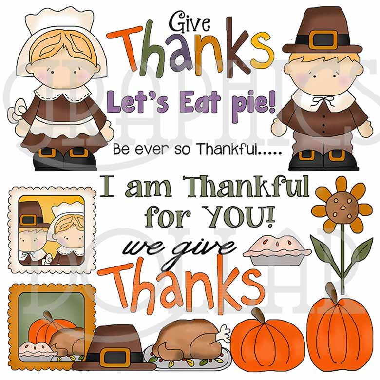 Give Thanks – Thanksgiving Clip Art