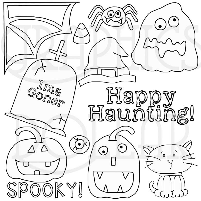 Hallows Eve Digital Stamps