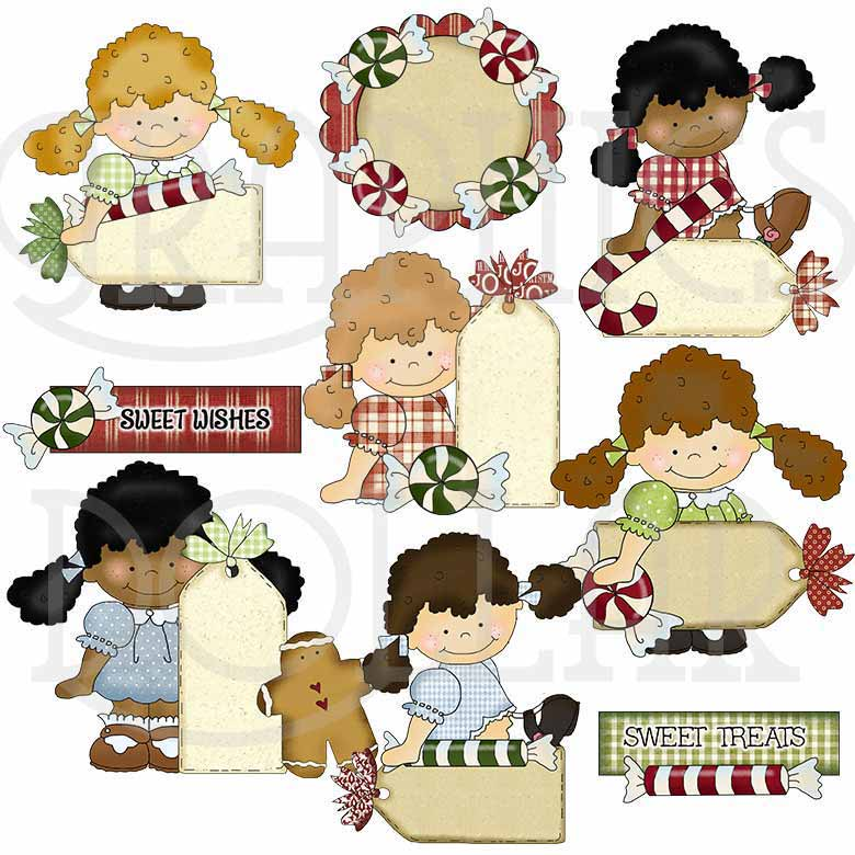 Happy Hannah Holiday Sentiments Clip Art