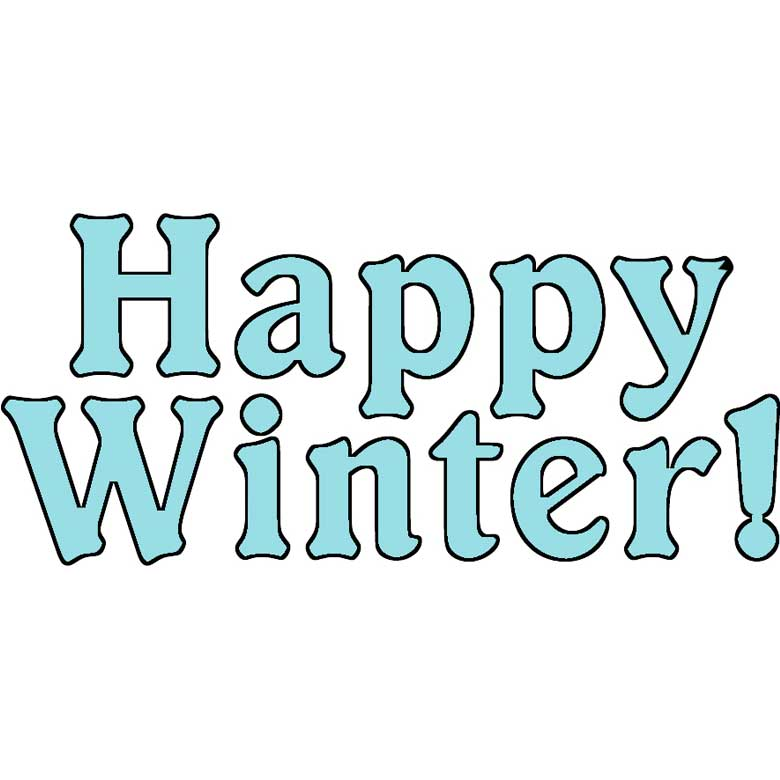 Free Clip Art - Happy Winter Word Art - Graphics Dollar