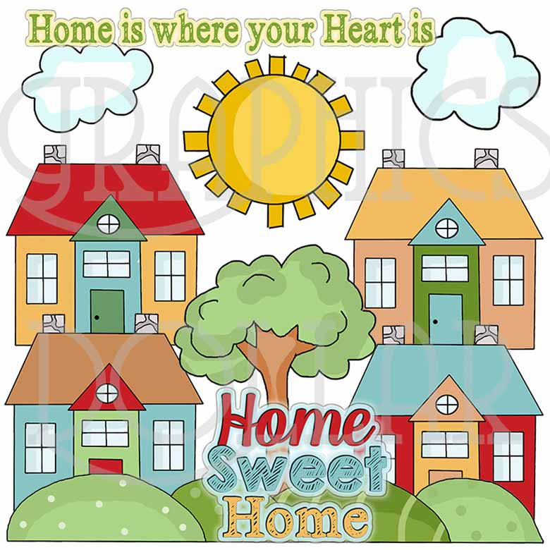 home sweet home modern flower print by paperpaper