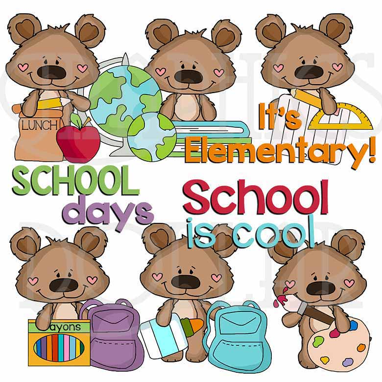 It's Elementary Boppy Bear Clip Art