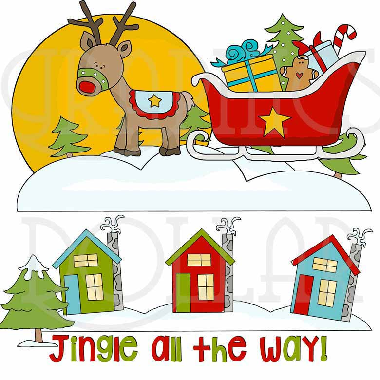 Jingle All the Way Clip Art