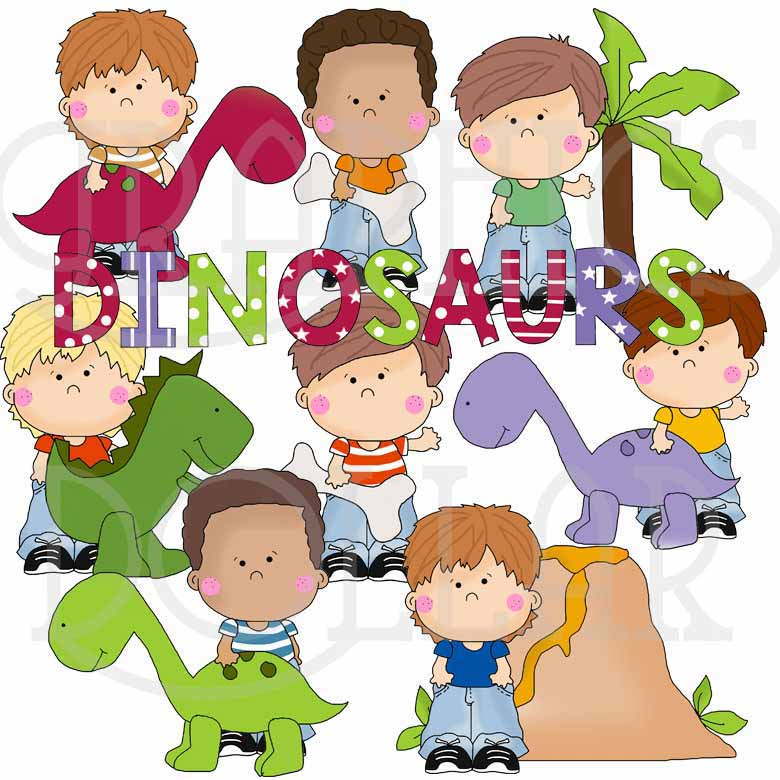 Little Ralphie Loves Dinosaurs Clip Art