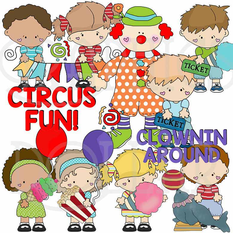 Little Snicklefritz Kids Circus Fun Clip Art