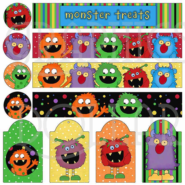 Monster Treats Mason Jar Set