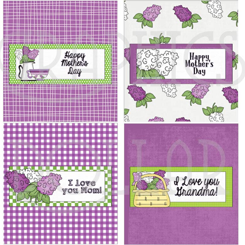Mother's Day Lilac Candy Bar Wrappers