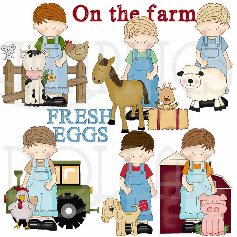 My Little Guy on the Farm Exclusive Clip Art