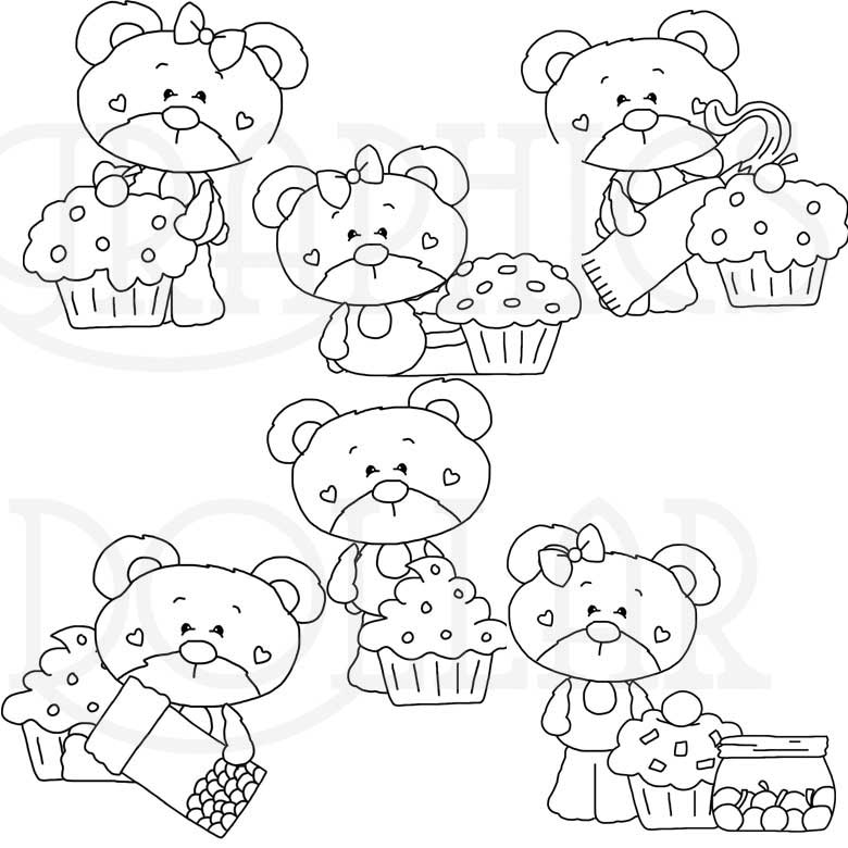 My Sweet Bear Love Cupcakes