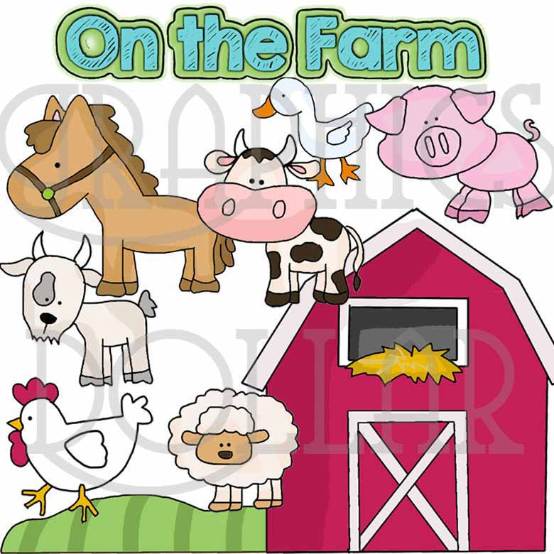 On The Farm Clip Art