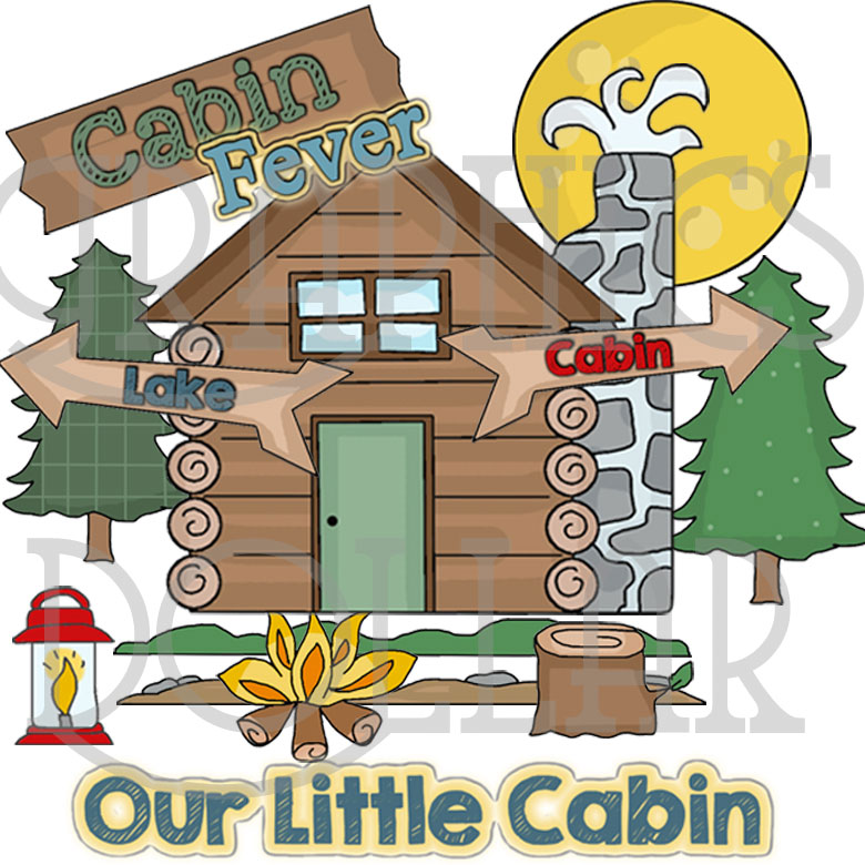 Our Little Cabin Clip Art