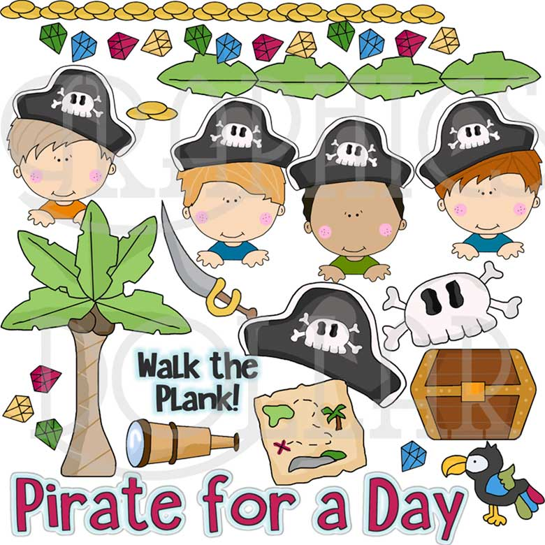 Pirate for a Day Clip Art