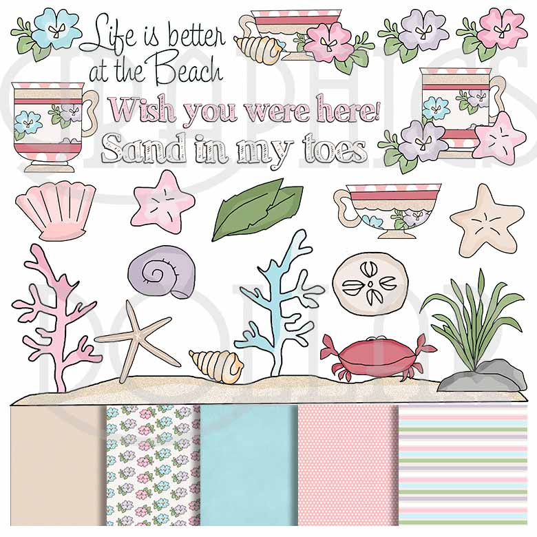 Pretty Beach Clip Art