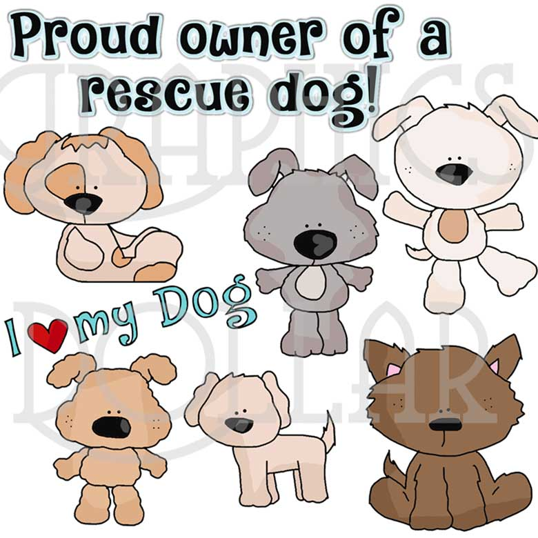 Rescue Dogs Clip Art