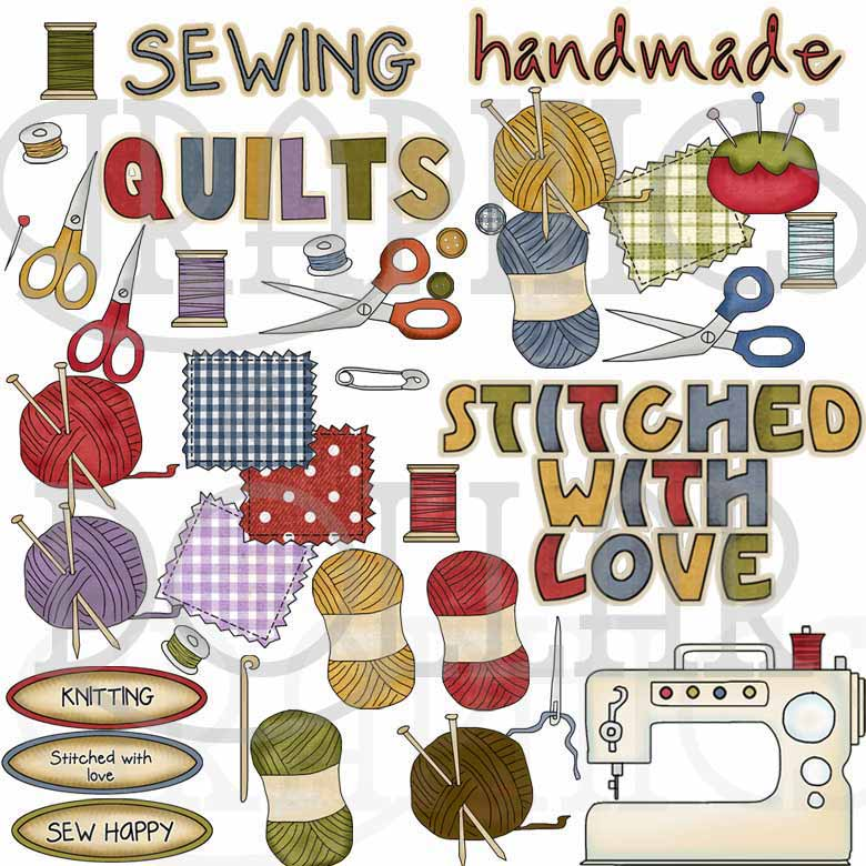 Sew With Me Collection Clip Art