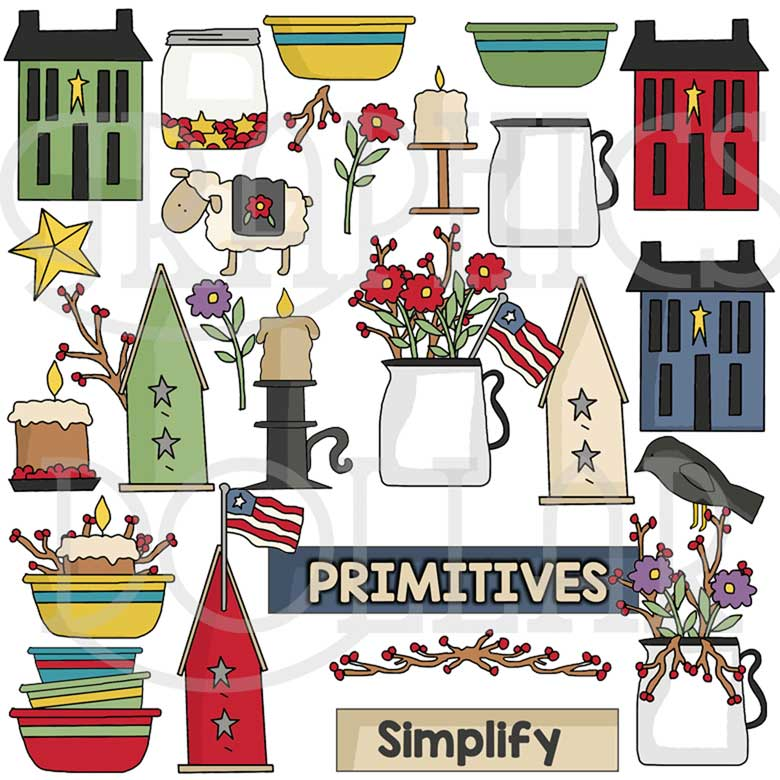 Simplify Primitive Clip Art