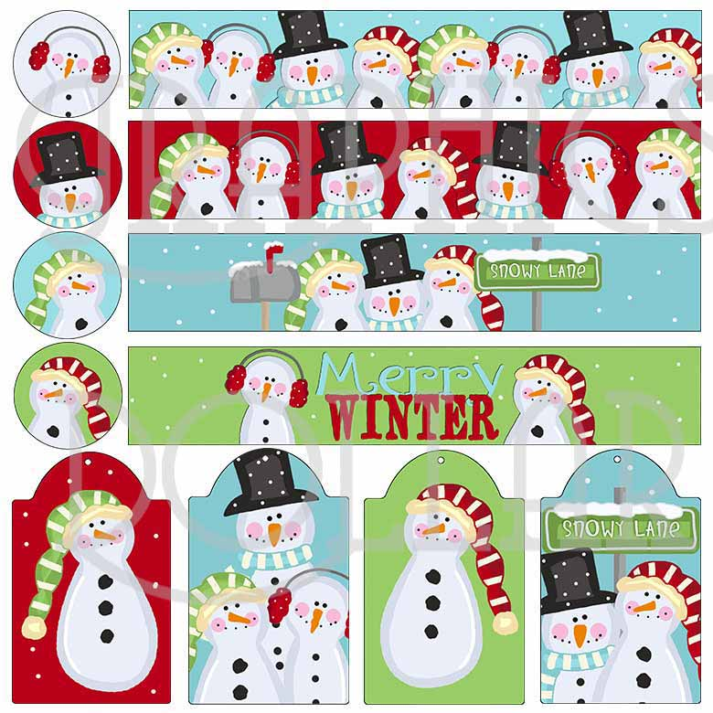 Snowy Lane Mason Jar Set