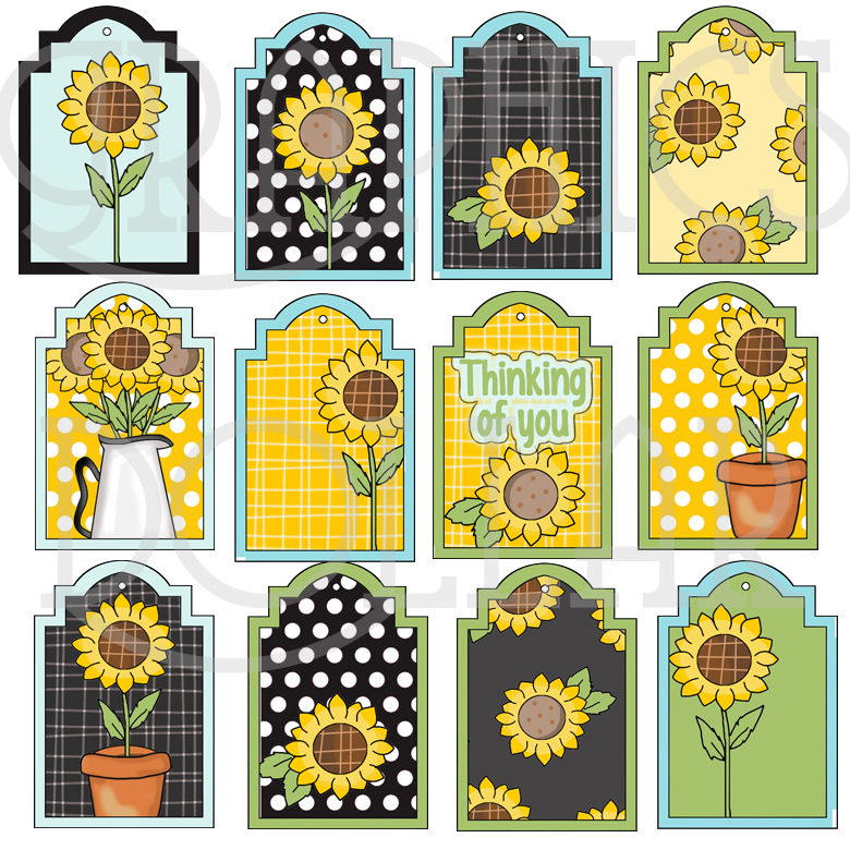 Sunflower Love Tags