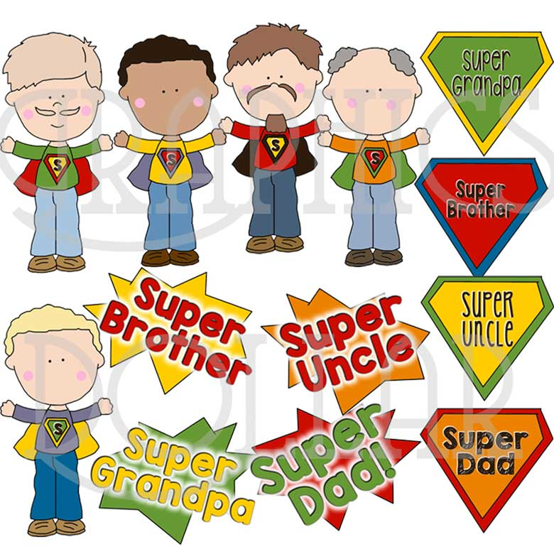 Super Dad Clip Art