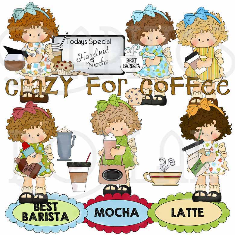 Sweet Barista Exclusive Clip Art